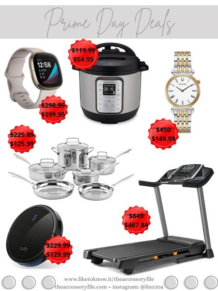 Amazon Prime Day Deals  Fitbit, InstaPot, Bulova ladies watch, Cuisinart cookware, Eufy robot vacuum, NordicTrak Treadmill, for the home, for the kitchen   http://liketk.it/3i3Ue #liketkit @liketoknow.it #LTKsalealert #LTKhome #LTKfit amazon finds