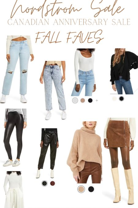 Nordstrom anniversary sale- Canadian edition! Fall faves! Mom jeans, faux leather pants, bodysuits! http://liketk.it/3k4e0 #liketkit @liketoknow.it #LTKsalealert #LTKunder100 #LTKstyletip