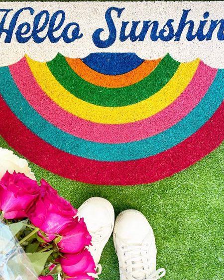 Hello Sunshine! ☀️ Cutest door mat for a happy entrance! http://liketk.it/39e2L #liketkit @liketoknow.it