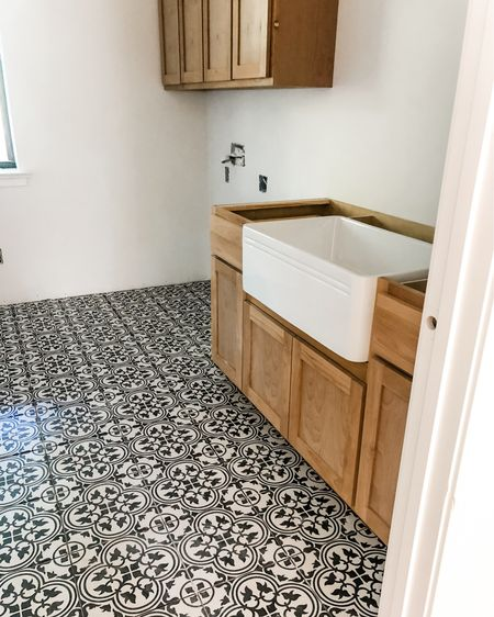 Laundry room in progress! Check out the sink & tile - both VERY affordable options and look GREAT! http://liketk.it/3fPRX #liketkit @liketoknow.it #LTKhome @liketoknow.it.home Shop your screenshot of this pic with the LIKEtoKNOW.it shopping app