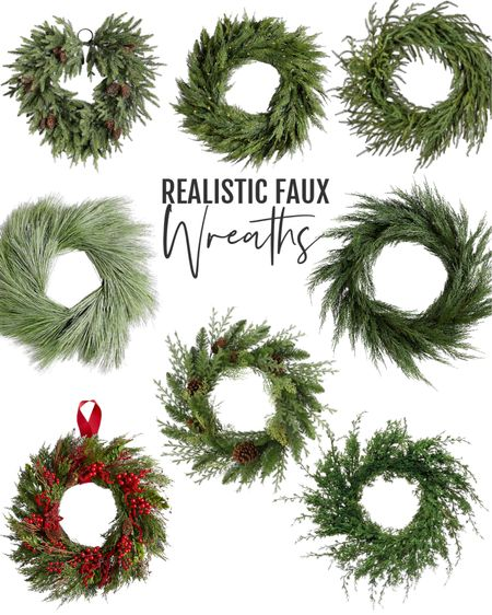 I love my faux holiday wreath! These affordable options look amazing. Keep out all through winter as is.  #wreath #christmas #ltkfamily #ltkunder50 #ltkunder100 #walmartfinds #crateandbarrel   #LTKHoliday #LTKSeasonal #LTKhome
