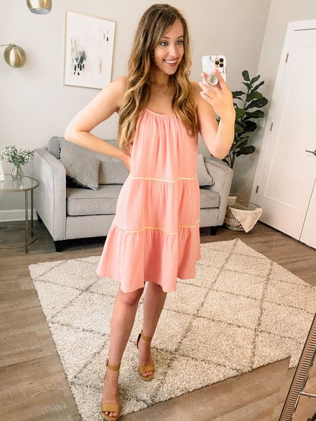 Summer dress // pink dress // vacation dress // beach dress // affordable dress // casual dress // affordable style // Walmart style // Walmart fashion finds // Walmart dress    #LTKstyletip #LTKsalealert #LTKunder50