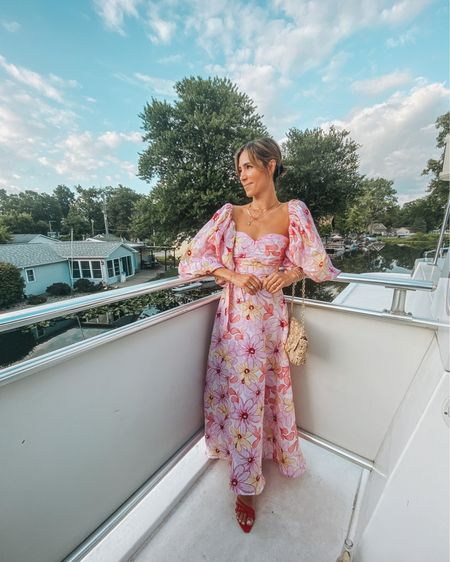 It's officially wedding season and I styled this amazing pink floral linen dress for tonight's festivities! http://liketk.it/3jmbB #liketkit @liketoknow.it    #LTKstyletip