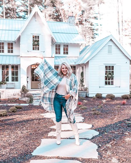 Croc embotted Boots are TTS available for pre order now! cape is old nordstrom fall outfit Fall home decor Giveaway Fall style  Fall boots Cream boots Heel boots Interior design Exteriors Fall front porch   #LTKshoecrush #LTKunder100 #LTKhome