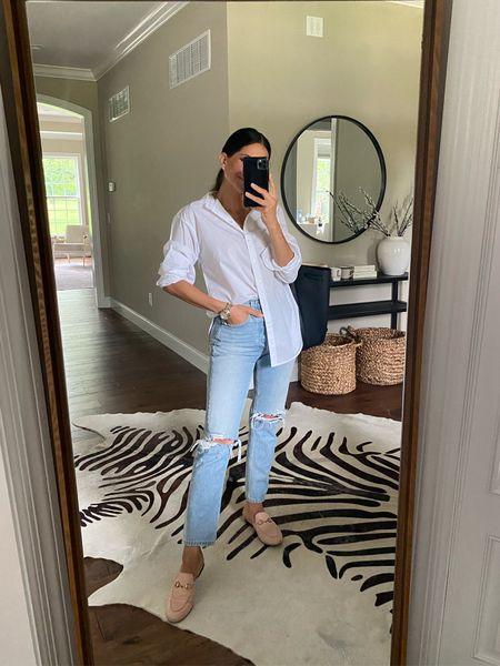 Wearing size xs shirt Denim in size 24