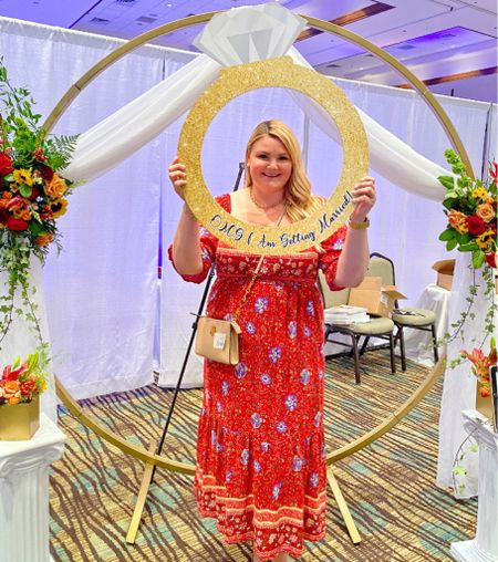 At my first wedding expo! Maxi lightweight square neck dress with smocking chest and empire waist.    #LTKwedding #LTKcurves #LTKunder50