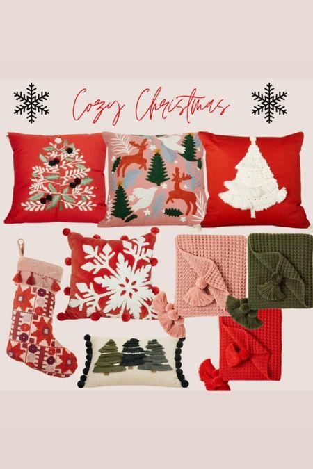 Christmas decor from target Christmas pillows   #LTKhome #LTKSeasonal #LTKHoliday