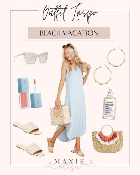 Summer Outfit Inspo - Beach Vacation 🏖  #summeroutfitinspo #beachvacationoutfit #vacationoutfitideas #summeroutfits #maxidress #summerfashion #summerdress #reddressboutique  #LTKSeasonal #LTKunder100 #LTKstyletip