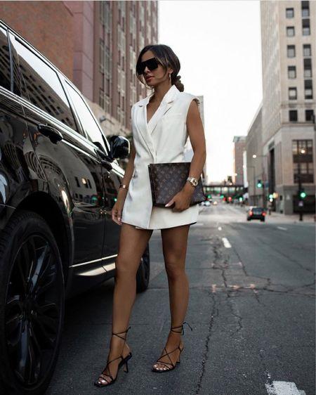 Summer night outfit Nordstrom vest wearing an XS Louis Vuitton Toiletry 26 Saint Laurent sunglasses    #LTKitbag #LTKunder100 #LTKstyletip