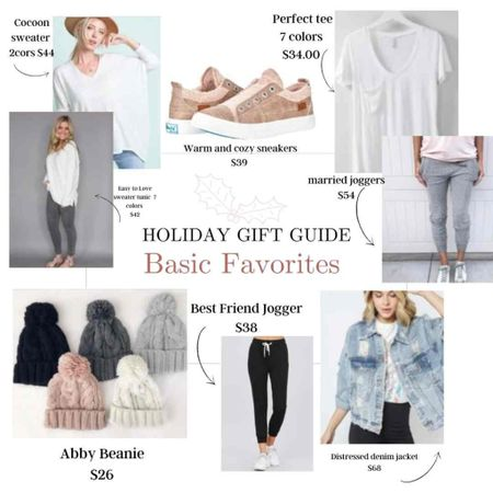 Holiday Gift Guide Great Basics Favorites …  Wardrobe basics every girl needs! Great gift ideas she'll love at affordable prices!  . .   #LTKstyletip #LTKunder50 #LTKGiftGuide