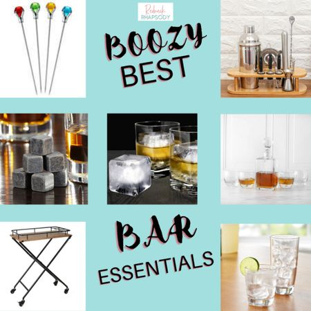 """The essentials to building a bar can be kept very simple and inexpensive. No place for a """"bar area"""" this cute cart is seriously a multi-purpose station! Bar all the time or any; perhaps a make-up station weekdays. They tray lifts off too! I love it. These are a few basic items to start building a bar with a few essentials. #liketkit @liketoknow.it http://liketk.it/33eB4 #LTKunder100 #StayHomeWithLTK #LTKhome Download the LIKEtoKNOW.it shopping app to shop this pic via screenshot"""