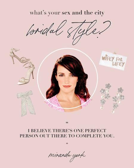 Which SATC bridal style are you?   #LTKstyletip #LTKwedding #LTKshoecrush