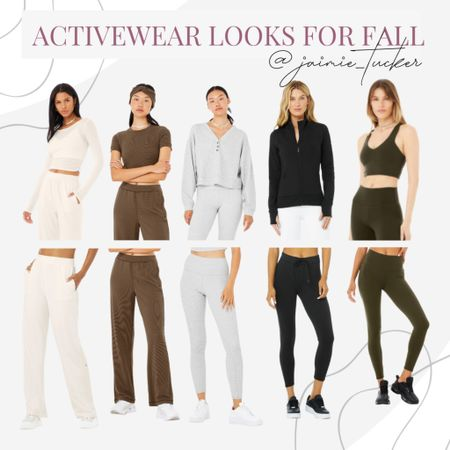 Activewear and loungewear looks for the fall. | #activewear #yogaleggings #activewearset #loungewear #loungewearset #loungewear #fallbasics #yogawear #athleticleggings #aloyoga #bestsellers #falloutfit #casualeverydaylooks #loungeoutfit #JaimieTucker  #LTKstyletip #LTKfit #LTKtravel