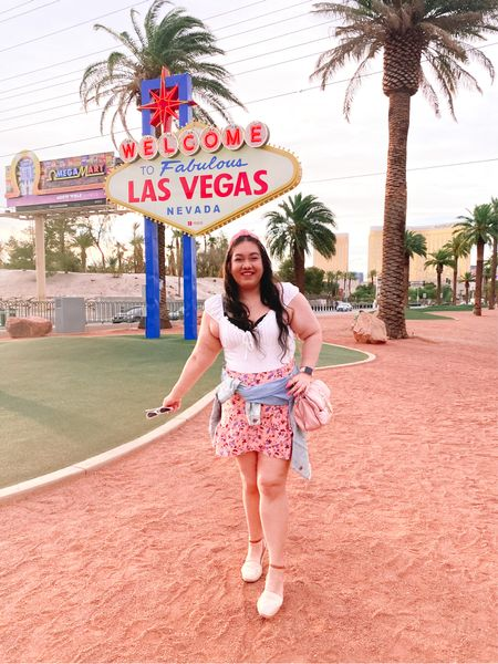 Hello Fabulous Las Vegas, I'm here! 🎰🎲✨ Finally after wishing I can travel here for years, I made it! 😱 I can't believe it and had to document the occasion! 📸 I'm having a wonderful time and everything is better than what I imagined it would be like. 💫 There's a couple travel vlogs now up on my YouTube channel of me exploring the city for the first time and what I'm doing! 🎥 Also I share a souvenir haul of all the things I've bought so far. 🛍 I'm having the best time! 😍 Also it's quite fitting that this is my 1000th post here on Instagram. It's so cool I've shared a thousand pictures on here since 2012. That's wild! 📷🖼 I'll be linking my outfit details of course including this skirt which was a part of a two piece set and my bodysuit is the cutest & so comfy. It was the perfect day out traveling outfit. 👗Have you ever taken a pic at this iconic sign? 🤔 // Shop what I wore and all the similar details on the app 👉🏻 here:  #LTKcurves