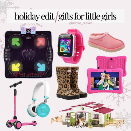 Who else loves shopping for the little ones? I know I do. Take a look at these items you can gift your little girl this Christmas. | #giftguide  #holidaygiftguide #kidschristmasgifts #littlegirlsholidaygifts #giftsforlittlegirls #giftsforgirls #kidsheadphones #kidstoys #kidsscooter #littlegirltoys #girlboots #rainbootsforgirls #slippersforgirls #JaimieTucker  #LTKSeasonal #LTKHoliday #LTKkids