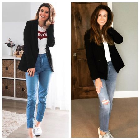 Happy Friday! I've talked about a style uniform being your go-to look that is comfortable and makes YOU feel good. Today's #herstyleourway challenge was easy for me because a blazer and jeans is one of my favorite style uniforms that I fall back on when I feel like I have nothing to wear.   After you have identified about 3-4 outfit formulas, you will find that it makes getting dressed much easier. It also helps you shop your own closet first and keeps you focused when you are shopping. Here are my favorite style uniforms:  ✅ blazer +t-shirt + jeans ✅ midi-skirt + graphic t-shirt + jacket (moto or denim) ✅ joggers + white top + denim jacket ✅ all black outfit (aka Johnny Cash 😀)  ❓What is your favorite style uniform or outfit formula that always makes you feel great❓Please share with us below so we can all get new style ideas!   #blackblazer #styleuniform #outfitformula #falltrends #outfitideas #fashionover40 #fashionover50 #over40blogger #over50blogger #fashionoverforty #fashionoverfifty #midwestblogger #midlifestyle #overfiftystyle #mnblogger  http://liketk.it/2ZqVH #liketkit @liketoknow.it #LTKstyletip You can instantly shop my looks by following me on the LIKEtoKNOW.it shopping app