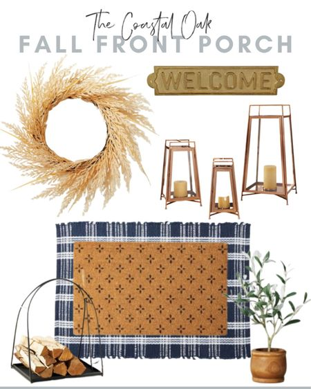 Fall front porch idea with new arrivals from Target! All of these are less than $75 🙌
