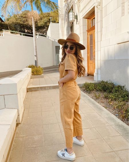 Just a girl waiting for Spring because there's a handful of reasons why! First up: my low-key bridal shower/bachelorette (in-one), in just a couple weeks ✨🌷💛🌸🐣  jumpsuit: @boyishjeans #jumpsuit #springstyle #springoutfits #yellow #sustainablefashion http://liketk.it/3acFj #liketkit @liketoknow.it