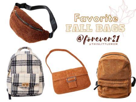 Favorite Fall Bags @Forever21 #fallfashion   #LTKitbag #LTKstyletip #LTKSeasonal