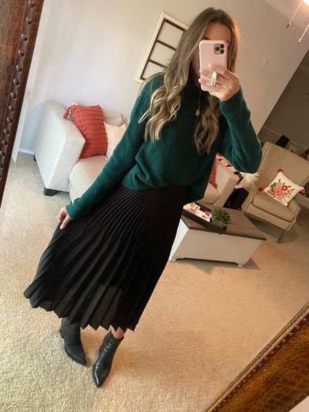 This midi skirt is perfect for the office this fall and winter and it's under $30! Comes in several colors and prints!   #LTKunder50 #LTKworkwear #LTKunder100