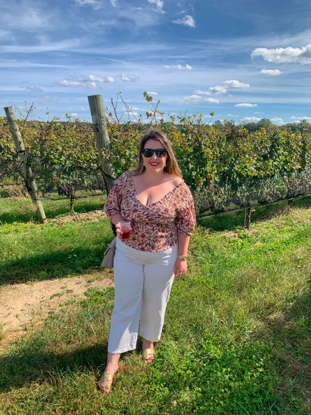 This top & the white jeans are both rented from @nuuly! Perfect for a fell winery day. 🍷   #LTKstyletip #LTKtravel #LTKcurves
