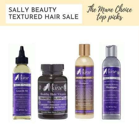 My The Mane Choice product picks for the Sally Beauty textured hair sale Multi-Vitamin Scalp Nourishing Growth Oil - used it and didn't see crazy hair growth but it did make my scalp feel good Manetabolism Healthy Hair Growth & Retention Vitamins - have used these off and on and feel like they enhance the health of my new growth Ancient Egyptian Anti-Breakage & Repair Antidote Shampoo - it took me a couple of uses but I came to like this shampoo and it helped strengthen my hair but was still moisturizing  Detangling Hydration Shampoo - It took me more than a few uses but I came to like the clean but moisturizing state this left my hair in  #LTKbeauty #LTKsalealert