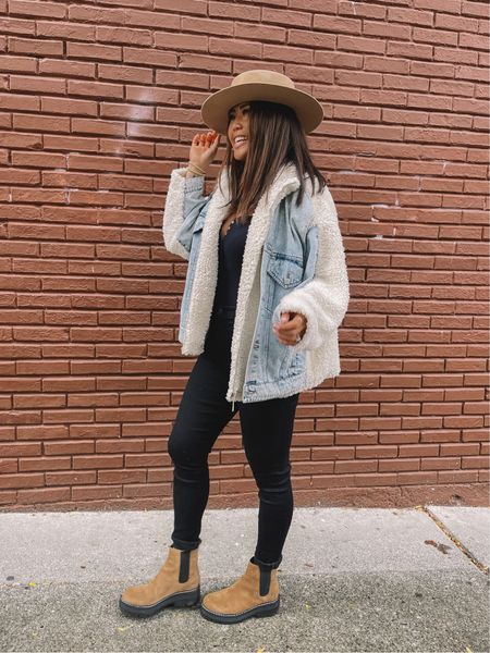 Fall decor // Nordstrom finds // denim jacket shearling jacket Chelsea boots // teacher outfit// pumpkin Patch   #LTKstyletip #LTKsalealert #LTKSeasonal