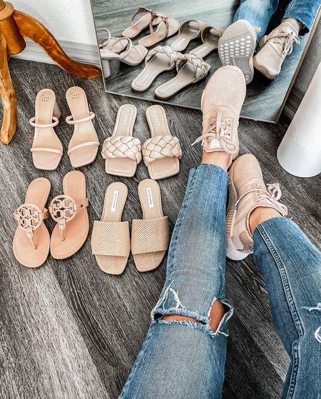 Currently loving spring shoes  Target Heels sz 8 (runs half a size small) | Shein sz 8 (tts) | Tory Burch sz 7.5 (tts) | Saks Fifth Ave sz 7.5 (tts) | Adidas NMD sz 7 (runs half a size big) http://liketk.it/3dAbW @liketoknow.it #liketkit #LTKshoecrush #LTKstyletip #LTKunder100