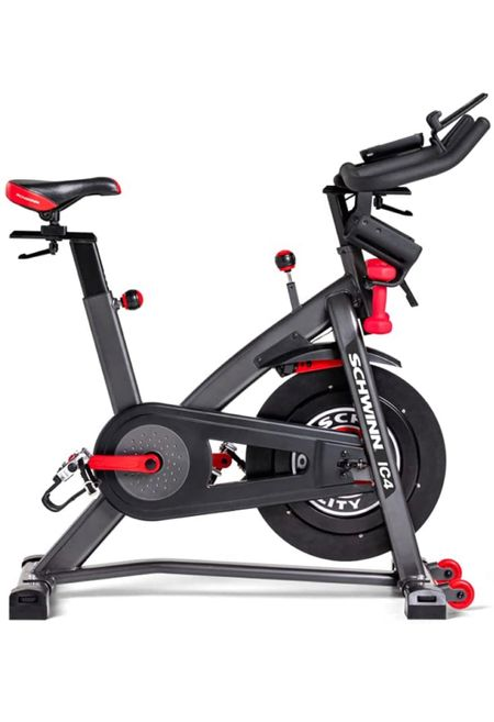 Amazon Prime Day: Schwinn IC Bike Series  Description The Schwinn IC4 Bike provides a premium, heart-pumping indoor cycling experience and features a 40 lbs flywheel with an intuitive resistance knob, 100 levels of magnetic resistance, a beautiful backlit LCD display, and easy-reach cradles for 3 lbs dumbbells. Digitally immerse yourself in a world of virtual races, exotic locales, and stunning trails from around the globe with connectivity to popular cycling apps like Explore the World, Zwift, and more. With the IC4, you'll escape the everyday and stay on track for a life well-lived. Features & details Connect with the Peloton and Zwift apps, allowing you to stream thousands of classes directly into your home and compete against others in a virtual world that motivates you at every mile. Access the Explore the World app and digitally immerse yourself in a world of virtual races, exotic locales, and stunning trails from around the globe. Coming Soon (3 free courses, unlock more with Explore the World app) Magnetic resistance with 100 micro-adjustable resistance levels Dual link SPD foot pedals come standard with toe cages or clips. Dual water bottle holders Full color backlit LCD console monitors heart rate, speed, time, distance, calories and RPMs  #LTKhome #LTKfit #LTKsalealert
