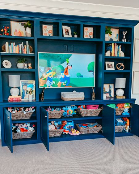 Playroom decor for coastal home. Navy blue and white decorations for toddler room 💙 #LTKkids #liketkit @liketoknow.it http://liketk.it/3iQ4d