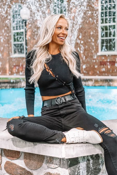 """""""For with You is the fountain of life; In Your light we see light."""" Psalm 36:9  Trendy cutout sweater from @revolve is linked in bio with @shop.ltk   #revolveambassador #revolveseasonal #verseoftheday #fountainoflife #stayingpositive #mentalhealth #fallstyle2021    #LTKsalealert #LTKSale #LTKSeasonal"""