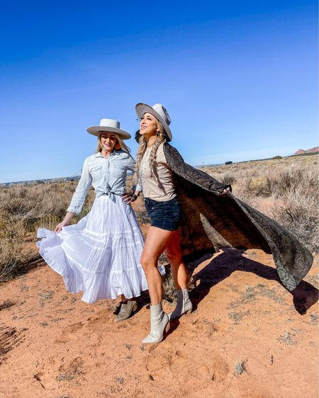 There's some places in the world that you feel like your soul is just ALIVE and Arizona 🌵 was that place for me! Glamping with my girls at @canebedscorral was just what my spirit needed! @sunnyjennadanielle and I felt like we belonged in a @visitarizona magazine while we were taking these pictures 😍   Follow me on the LIKEtoKNOW.it shopping app to get the product details for this look and others http://liketk.it/3alQn #liketkit @liketoknow.it #LTKsalealert #LTKtravel #LTKshoecrush