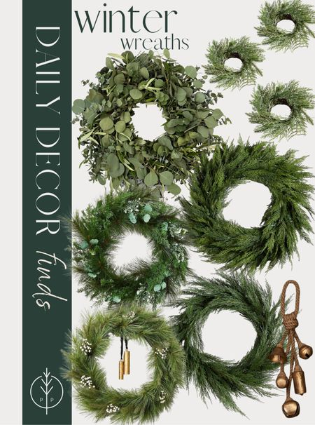 Holiday wreaths for the front porch, mantle holiday decor, holiday decor    #LTKhome #LTKSeasonal #LTKHoliday