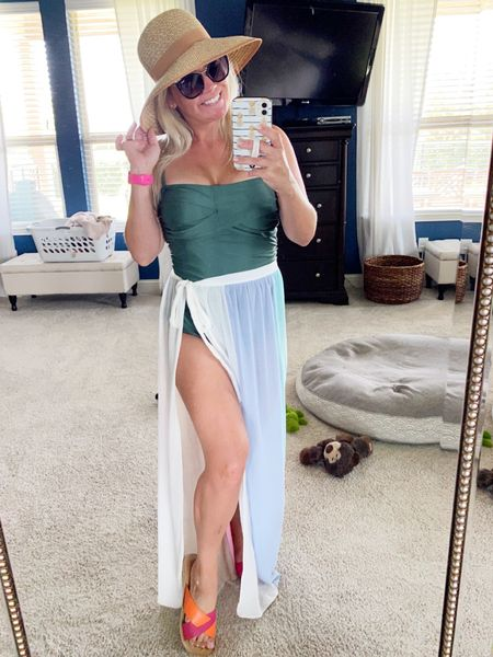 Hiiiii 👋🏼 there Sunday Scaries! I'm just living my best Pool Bum life while pretending the house isn't a disaster and the laundry isn't in numerous mountains of nastiness all over the house. I'm loving this little sarong as a cute, easy cover up for these lazy summer days! May your bevs be cold, your pools bum-worthy, and your people be willing to wear dirty clothes for the foreseeable future!🤘🏼     #LTKswim #LTKunder50 #LTKunder100