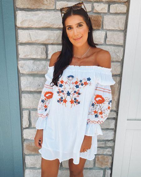 Off the shoulder dress, summer dress (medium)   #LTKsalealert #LTKunder50