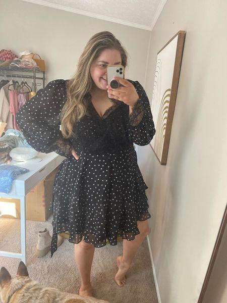 On sale Polka dot lace dress! STUNNING! I'm obsessed. Wearing it to a wedding. Wearing my true size 18  #LTKsalealert #LTKcurves #LTKunder50
