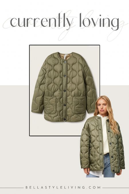Satin quilted jacket  Straight design. Committed Collection. Water-repellent. Quilted design. Medium design. Straight design. Rounded neck. Long sleeve with buttoned cuffs. Two patch pockets on the front. Recycled polyester padding. Button fastening on the front section.  #LTKunder100 #LTKstyletip #LTKSeasonal