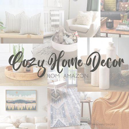 Cozy Home Decor from Amazon — Part 2 — Decor, Rugs, Artwork, + Curtains  #LTKunder50 #LTKSeasonal #LTKhome