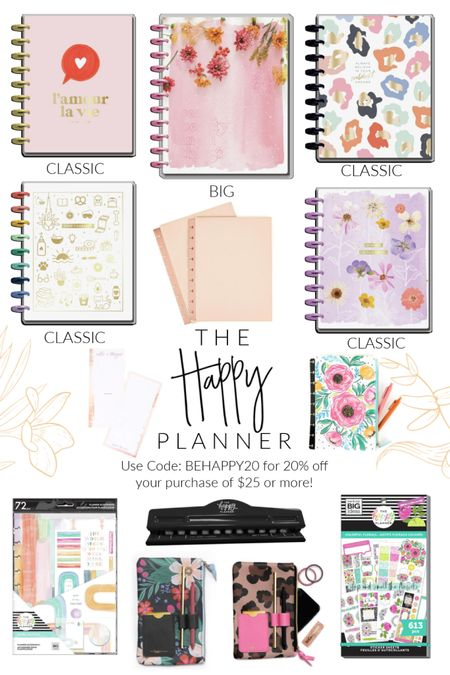 The Happy Planner is having a sale y'all!! 😍 Use Code: BEHAPPY20 for 20% off your purchase of $25 or more!! 🙌🏻🔥 http://liketk.it/3a6xI #liketkit @liketoknow.it #LTKsalealert #LTKunder50 #StayHomeWithLTK