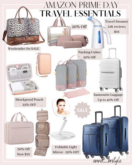 amazon prime day, amazon travel essentials, sasmonite luggage on sale #anna_brstyle http://liketk.it/3ibXA #liketkit @liketoknow.it #LTKsalealert #LTKtravel