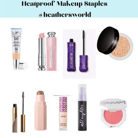 Heatproof Makeup Staples   #lkt #summer #summermakeup #lktit #tarte #tartecosmetics #fentybeauty #abh #diormakeuo #urbandecay #lauramercier #shapetape #itcosmetics   #LTKbeauty #LTKunder50 #LTKSeasonal