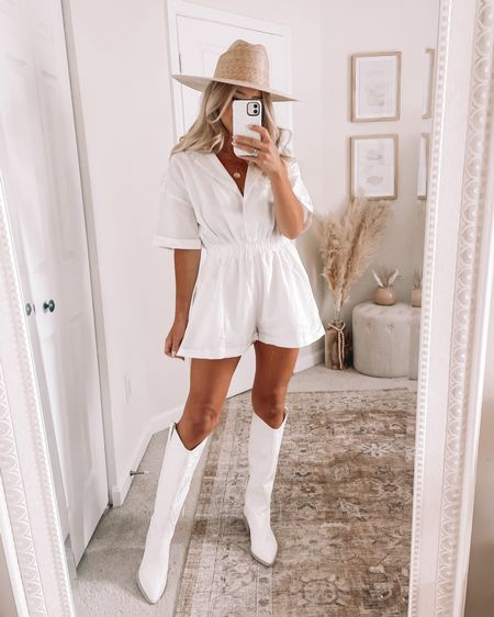 White romper from Petal & Pup Shop your screenshot of this pic with the LIKEtoKNOW.it shopping app http://liketk.it/3k6qP @liketoknow.it #liketkit #LTKstyletip #LTKunder100 #LTKshoecrush