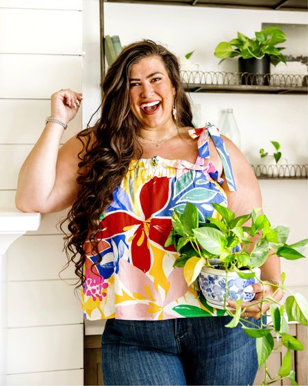Plus size tops for $11! With the cutest summer patterns and prints with beautiful tie detailing   #LTKcurves #LTKsalealert #LTKunder50