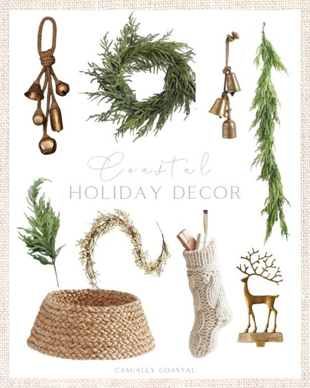 These are some of the hot holiday decor items that sold out last year by mid-November, so if you plan on buying garland, vintage bells, stockings or any real-touch pine, then I wouldn't delay! Shipping delays are expected again this year so as crazy as it seems, we need to start picking up holiday decor in the next couple of weeks! I've already seen a few holiday pieces that I've had my eye on sell out! - Christmas decor, holiday decor, vintage bells, real touch pine, real touch garland, real touch pine, pine picks, pine wreath, pine garland, mantle garland, afloral garland, woven tree collar, pottery barn christmas decor, pottery barn holiday decor, knit stockings, creme stockings, pottery barn stockings, christmas stockings, neutral stockings, stocking holders, gold stocking holders, seagrass tree skirt, coastal holiday decor, coastal christmas decor, neutral holiday decor, neutral christmas decor, white berry garland    #LTKHoliday #LTKSeasonal #LTKhome