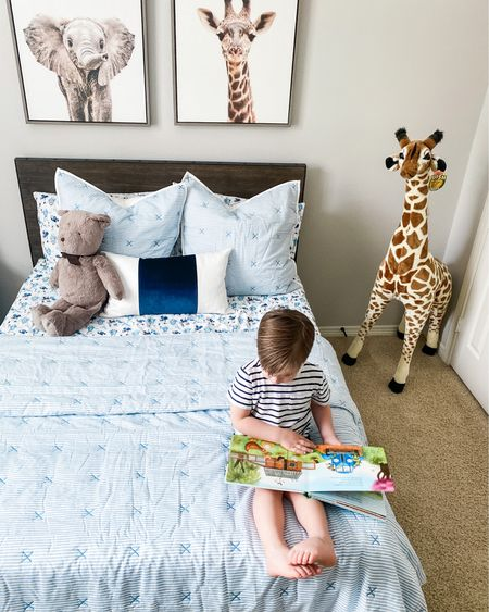 Big boy bed. Check! I can't believe my baby is ready for a big bed, but here we are! I'm obsessed with his bedding and can't wait to get his new artwork up! I love his bedding so much I had to share. Shop his sheets, pillows and comforter at http://liketk.it/3ceWq   You can get 10% off your first purchase, too!    #liketkit @liketoknow.it #LTKfamily #LTKhome #LTKkids