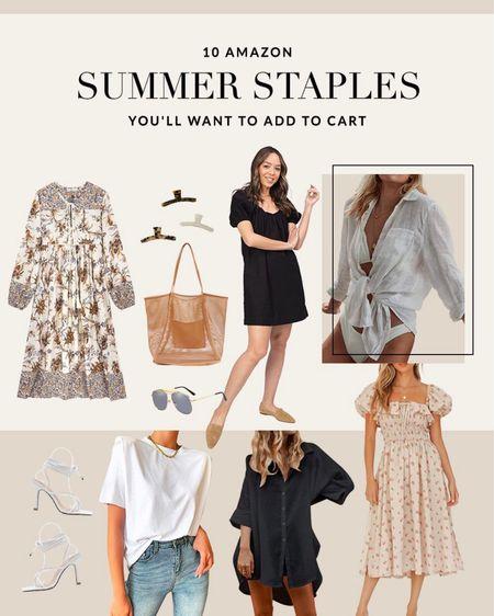 amazon summer fashion #summer #amazon #amazonfashion  #LTKSeasonal #LTKunder100 #LTKunder50