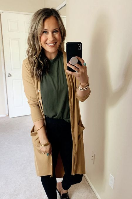 Business casual amazon finds! This cardigan and top are both amazon fashion finds and make a perfect office outfit   #LTKworkwear #LTKunder50 #LTKstyletip