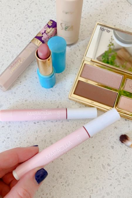 Tarte is one of my favorite beauty brands.  Their new Maracuja Lip products are so hydrating.  I keep one in my purse & one at home.  Their Shaoe Your Money Maker palette is a great all-in-one if you love a simple makeup look.  25% off and free shipping!  #LTKbeauty #LTKSale