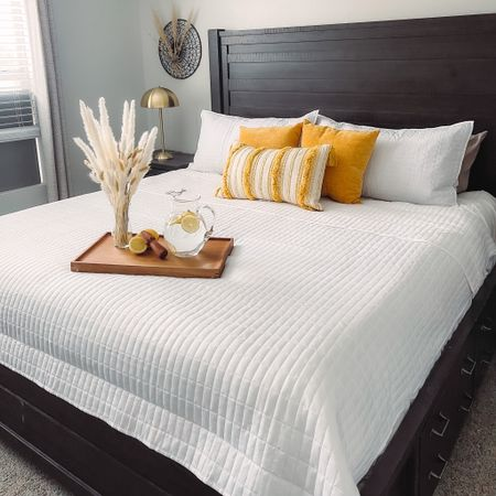 Good morning and happy Tuesday Everyone ❤️❤️❤️ this post is #sponsored by #WalmartHome  I decided to spruce up the bedroom and thanks to Walmart's new citrus summer collection I was able to make it happen!! The quilt, tray, and lamp are Just a few of the many items they have to offer. #CitrusSummer http://liketk.it/3iEkX #LTKhome #LTKunder100 @liketoknow.it.home #liketkit http://liketk.it/3iFHk @liketoknow.it   Shop your screenshot of this pic with the LIKEtoKNOW.it shopping app