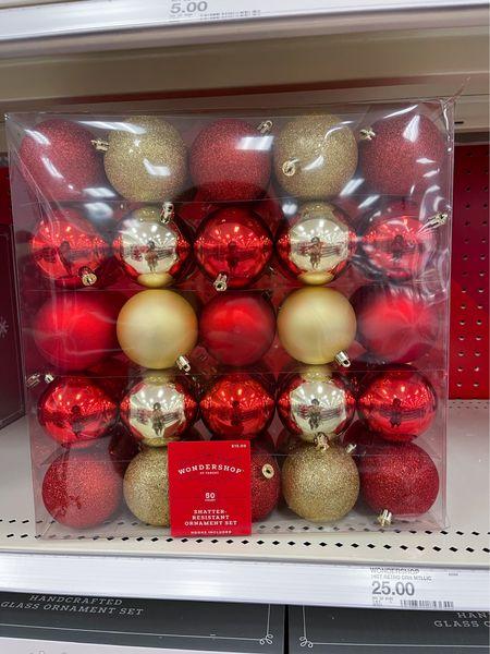 50 count ornament set for target!   #LTKSeasonal #LTKHoliday #LTKsalealert
